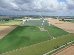 Windpark aus 80 Metern Höhe